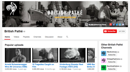 Website of the day: British Pathé on YouTube