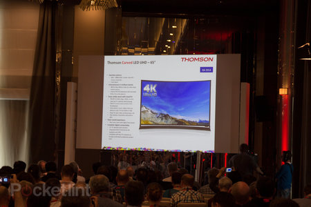Thomson throws a curve ball: more affordable curved UHD TVs from September
