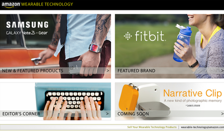 Amazon Wearable Technology store lets you browse and buy gadgets from Samsung, Jawbone, and more