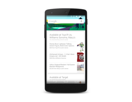 Google Now for Android will alert you if a nearby store sells the product you want