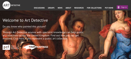 Website of the day: Art Detective