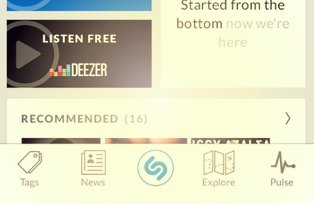 Shazam now lets you instantly play indentified songs with Deezer in the UK