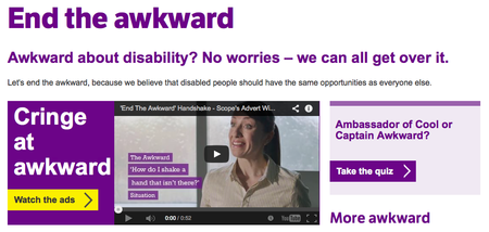 Website of the day: End the Awkward