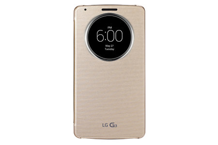 LG releases official pictures of its LG G3 smartphone, encased in the QuickCircle Case