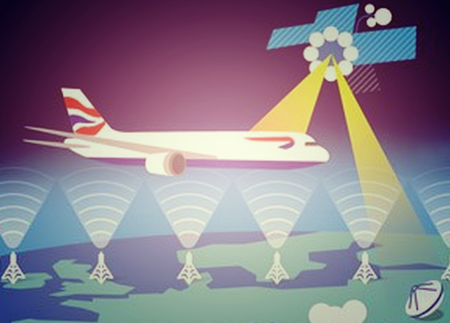 Inmarsat satellite and tower network to deliver Wi-FI services to in-flight passengers EU-wide