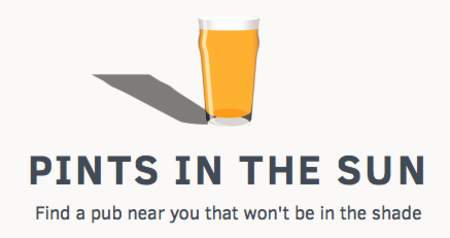 Website of the day: Pints in the Sun