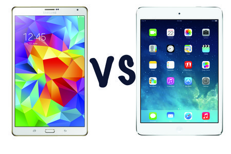 Samsung Galaxy Tab S (8.4) vs Apple iPad mini Retina: What's the difference?