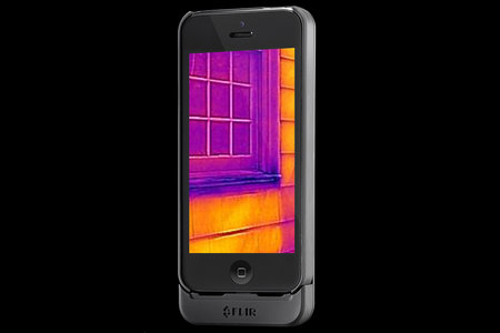 Add Predator style heat vision to your iPhone using the Flir One case, out July