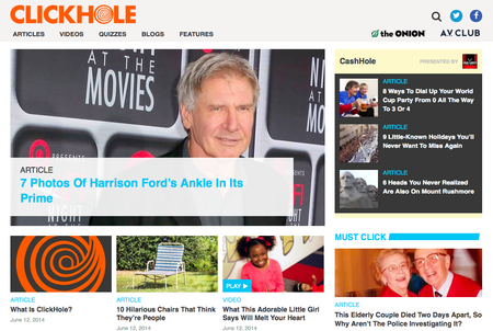 Website of the day: Clickhole