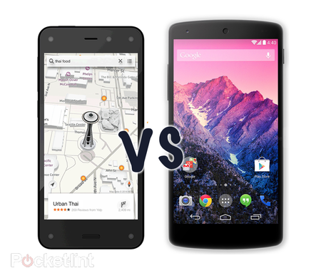 Amazon Fire Phone vs Google Nexus 5: What's the difference?
