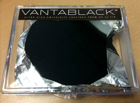 This is Vantablack, the darkest material ever made
