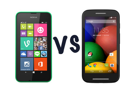 Microsoft Nokia Lumia 530 vs Motorola Moto E: What's the difference?