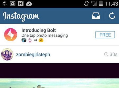 Instagram leak reveals Bolt: Is it another Snapchat-like app or just an advert test?
