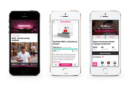 Indiegogo app launches on iPhone for mobile crowd-funding projects