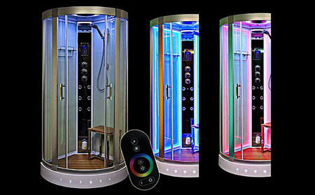 Insignia Lite: Shower yourself in LED light and Bluetooth tunes, but mainly water