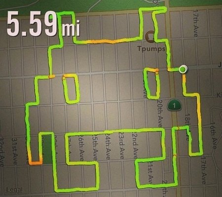 Nike+ running app used for phallic art purposes, 'draw running' is here