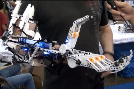 Lego Mark VI cyborg arm grabs our attention and anything else it wants