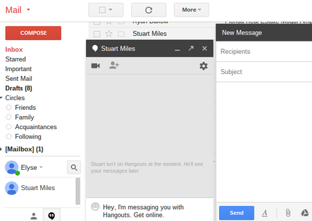 Gmail adds Hangouts tab so you can message friends and email at the same time
