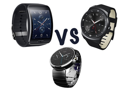 Samsung Gear S vs LG G Watch R vs Motorola Moto 360