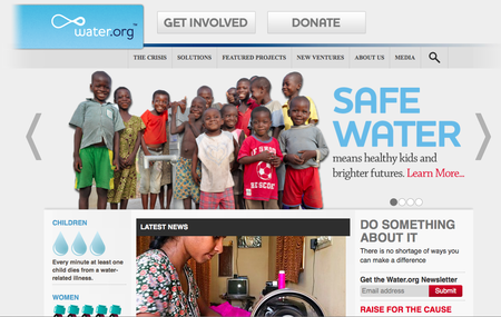 Website of the day: Water.org