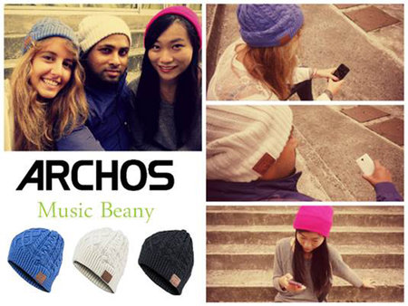 Archos Music Beanie connects your warm head to your smartphone's tunes