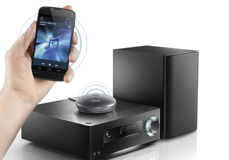 Philips Bluetooth adapter can pair up to three devices and play music through any source
