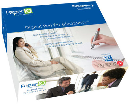 Paper IQ digital pen for BlackBerry