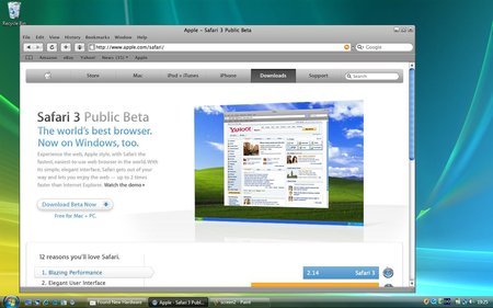 Apple Safari 3 internet browser - PC