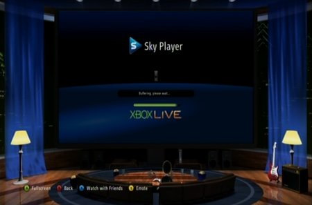 Sky Player on Xbox 360