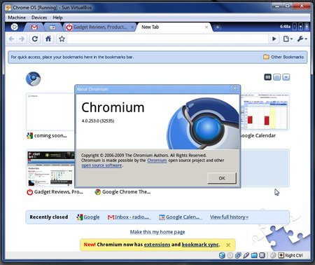 Google Chrome OS - First Look