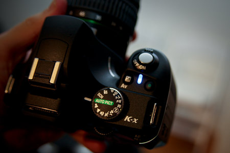 Pentax K-x DSLR camera   review