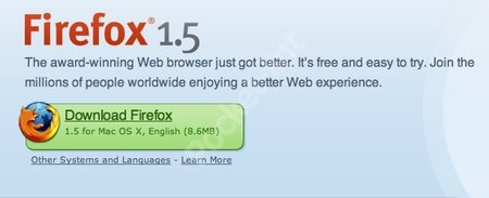 Firefox upgrades browser to 1.5