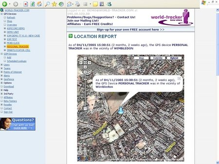 Mobile phone location tracking site launched