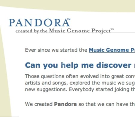 WEBSITE OF THE DAY - pandora.com