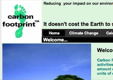 WEBSITE OF THE DAY - carbonfootprint.com