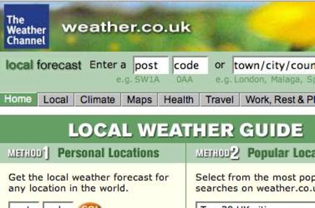 WEBSITE OF THE DAY - weather.co.uk