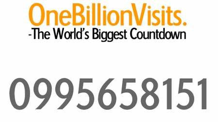 WEBSITE OF THE DAY - onebillionvisits.com