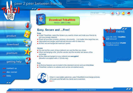 TribalWeb lets you set up a private P2P network