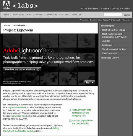 Adobe gives Windows users a look at Lightroom