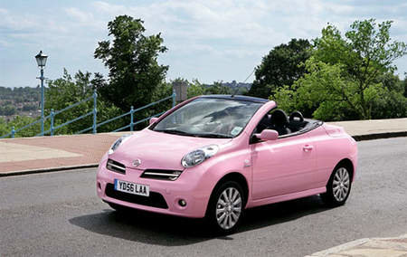 Nissan goes pretty with the Micra C+C Pink edition