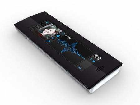 Mobile phone protype Onyx dispenses with buttons and keys