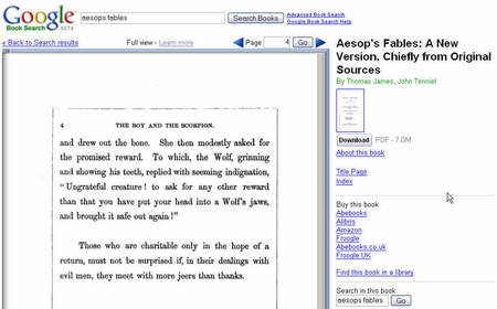Google offers classic books in PDF format for free