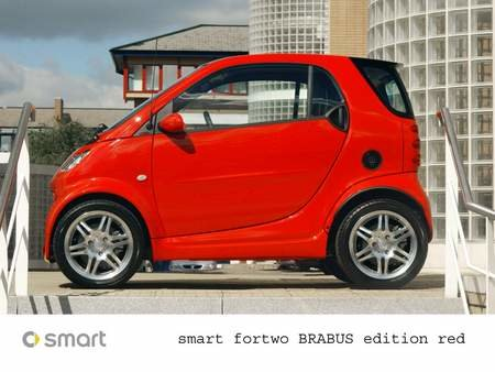 Smart launches fortwo Brabus edition red