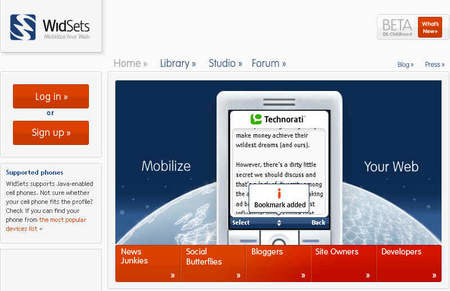 WidSets is Nokia's offering to the mobile Web 2.0 world