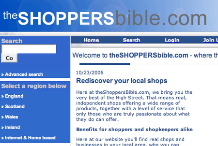 WEBSITE OF THE DAY - theshoppersbible.com