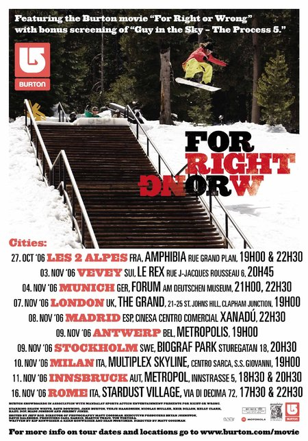 Burton Snowboards world movie tour