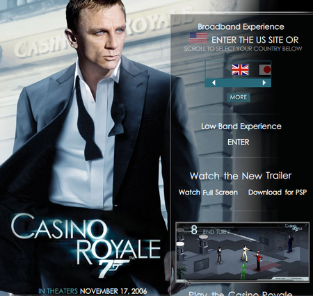 WEBSITE OF THE DAY – casinoroyalemovie.com