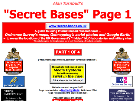 WEBSITE OF THE DAY – secret-bases.co.uk