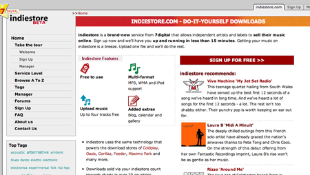 Indiestore.com launches flash player for MySpace pages