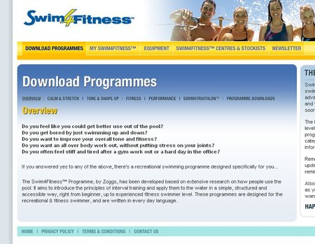Free Zoggs swimming programmes